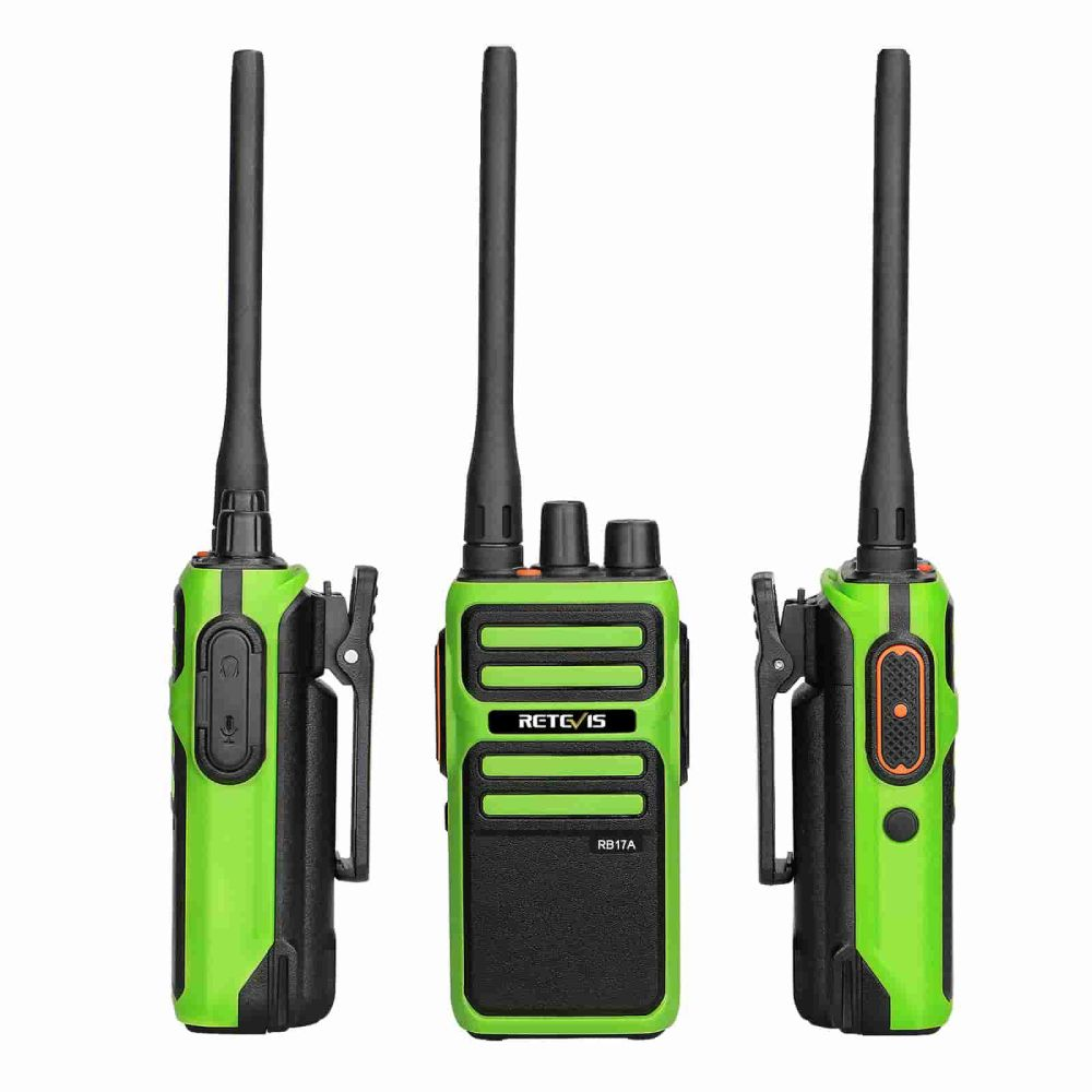 Handheld GMRS walkie talkie for camping