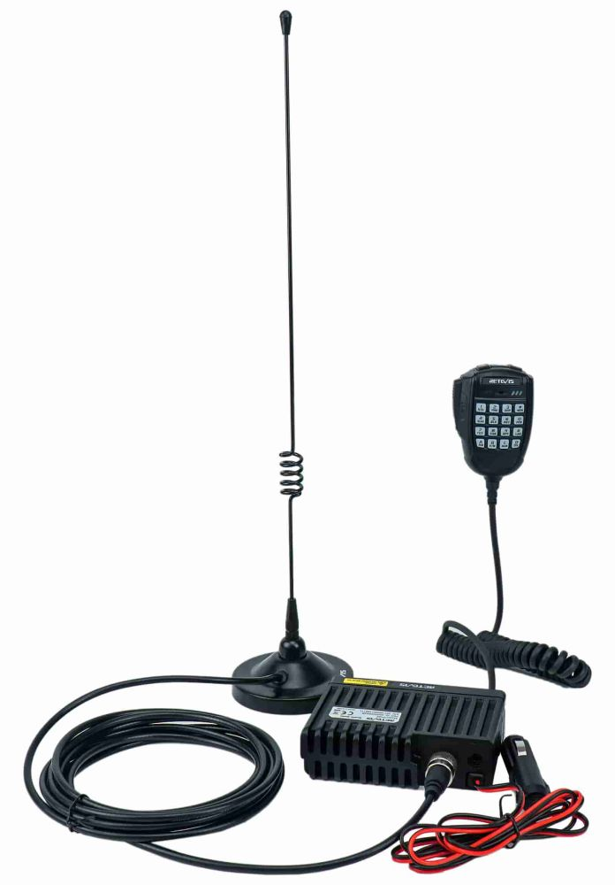 RA25 GMRS mobile Radio with Magnet Mount Antenna