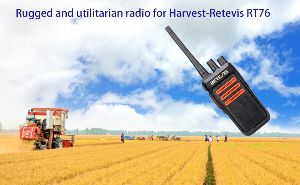 Rugged and utilitarian radio for Harvest-Retevis RT76 doloremque