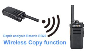 How to operate the wireless copy function of Retevis RB26 GMRS handheld walkie talkie doloremque