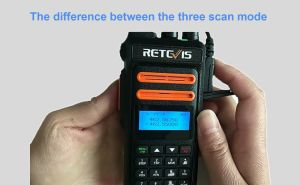 What is the difference between the three scan mode of Retevis RT76P GMRS radios? doloremque