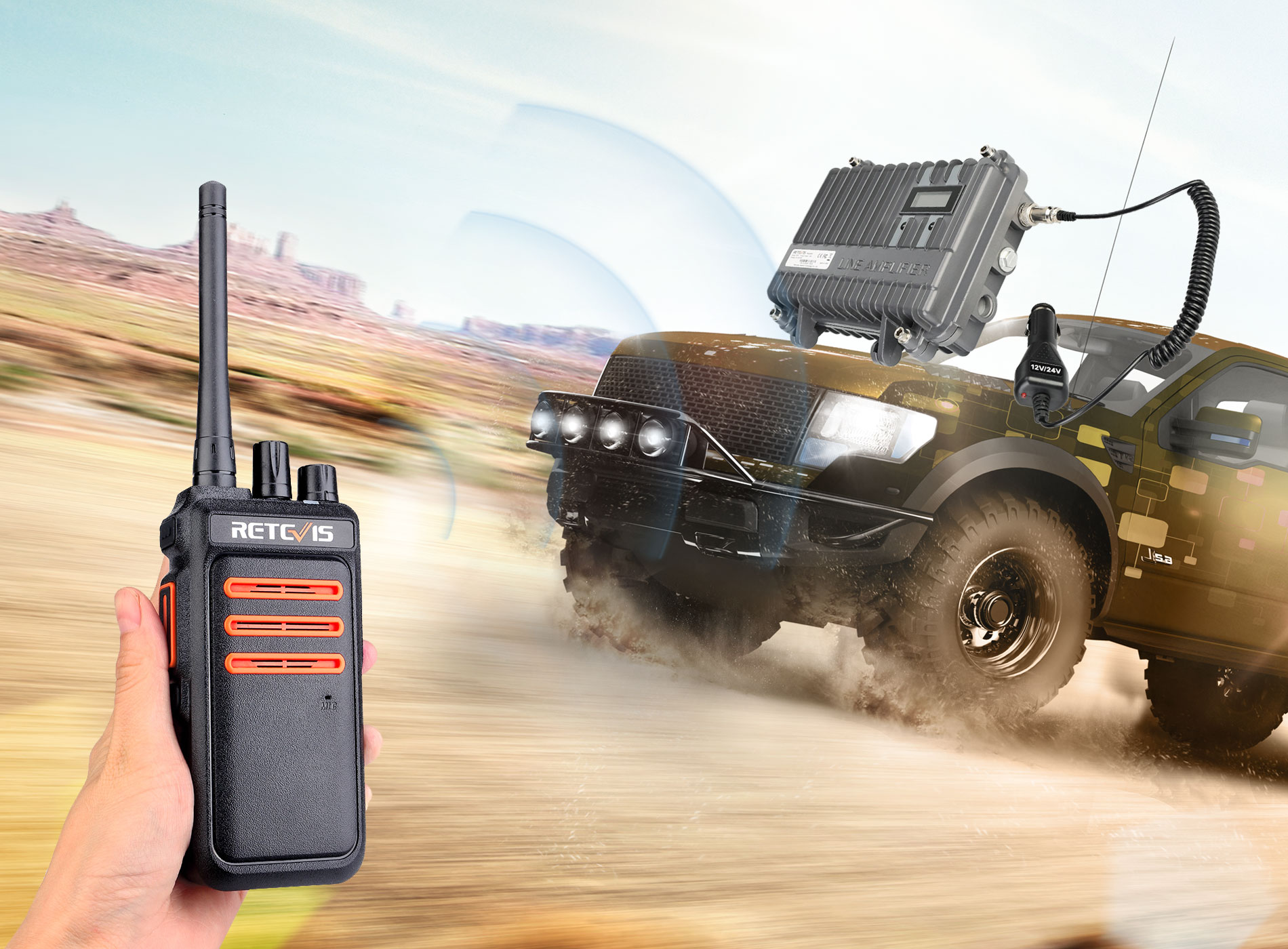 GMRS Radio soluition car radio solution